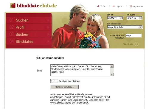 blind date sms chat